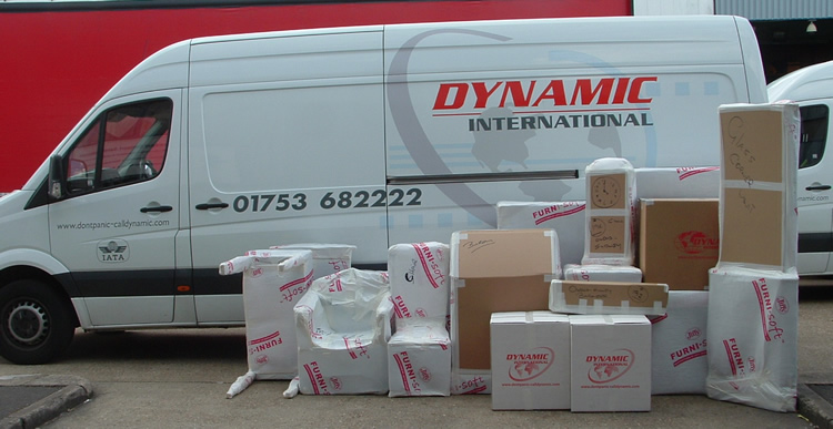 Dynamic road freight van loading